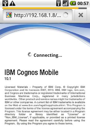 Cognos 10 Mobile su Android